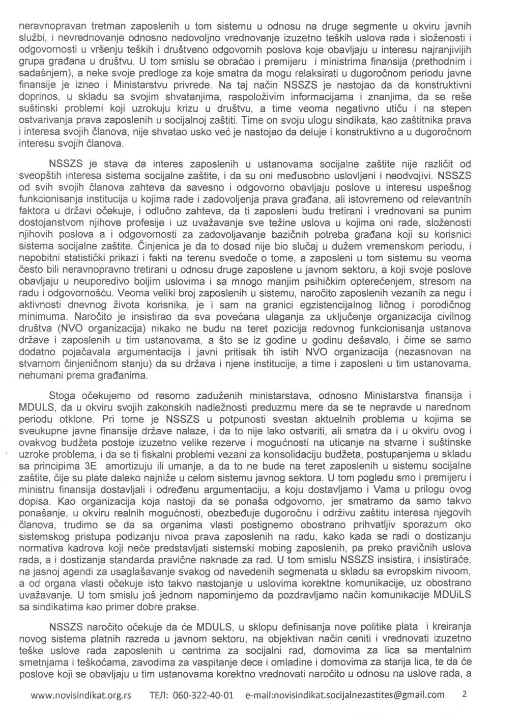 ОДГОВОР МИНИСТРУ ДРЖАВНЕ УПРАВЕ И ЛОКАЛНЕ САМОУПРАВЕ - 2